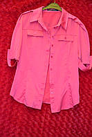 Нарядная женская рубашка с коротким рукавом