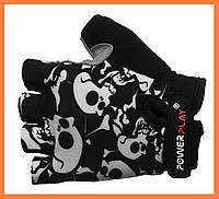 Перчатки для велосипеда детские с черепами