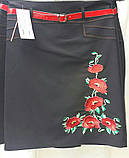 Черная юбка с вышивкой, пояс, 44-52 р-ры, 375/325 (цена за 1 шт. + 50 гр.), фото 3