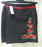 Черная юбка с вышивкой, пояс, 44-52 р-ры, 375/325 (цена за 1 шт. + 50 гр.), фото 4