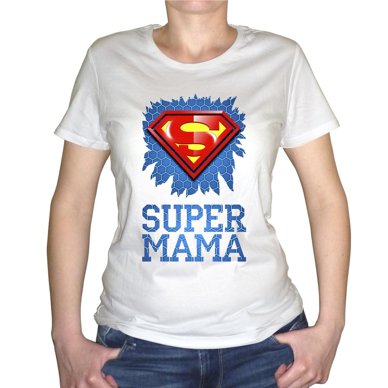 "Женская футболка ""Super мама"""