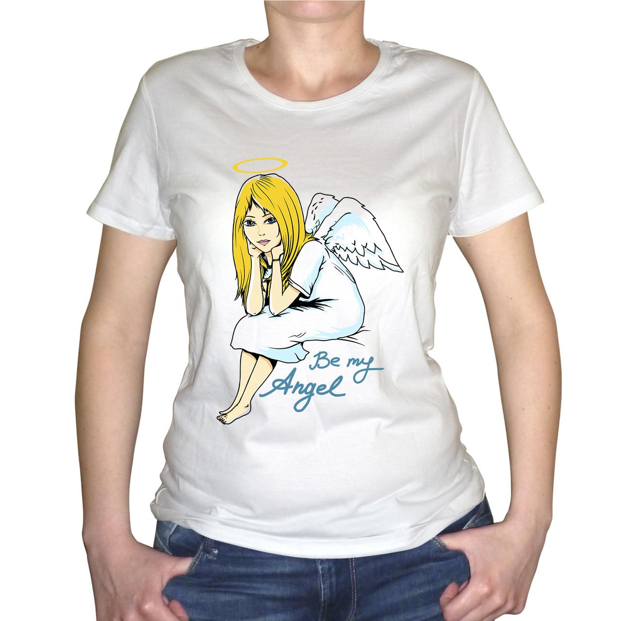 "Женская футболка ""Be my angel"""