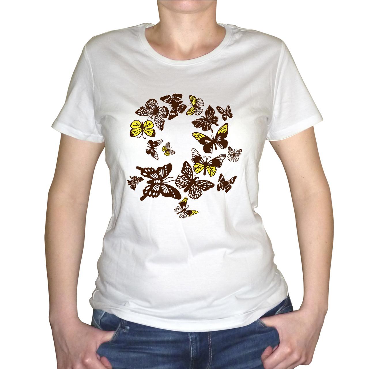 """Женская футболка """"Бабочки"""""""
