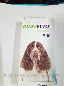 Бравекто для собак 10 - 20кг, жевательная таблетка от клещей и блох