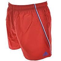 Шорты пляжные мужские adidas Basic SH VSL S22254 (красные, нейлон, спортивные, с логотипом адидас)