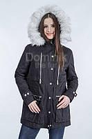 Куртка - парка мех песец - 05991  длина 77 см