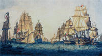 """Набор для вышивки крестом """"Panna"""" Корабли в Алжире КР-1624"""