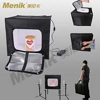 Набор для предметной фото-съемки Menik Y-20 (Кублайт 60 на 60 со встроенным LED освещением)в наличии на складе