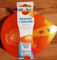 Akuku A0255 Тарелка с ложечкой