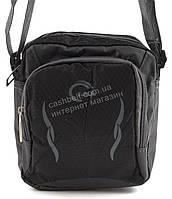Удобная маленькая тканевая мужская сумочка art. 003 черная Турция