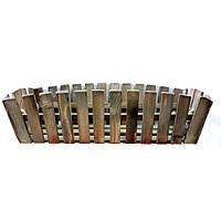 Деревянное кашпо для балкона 60см