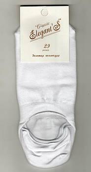 Подследники мужские х/б Elegant Classic, 25 размер, белые, 1146