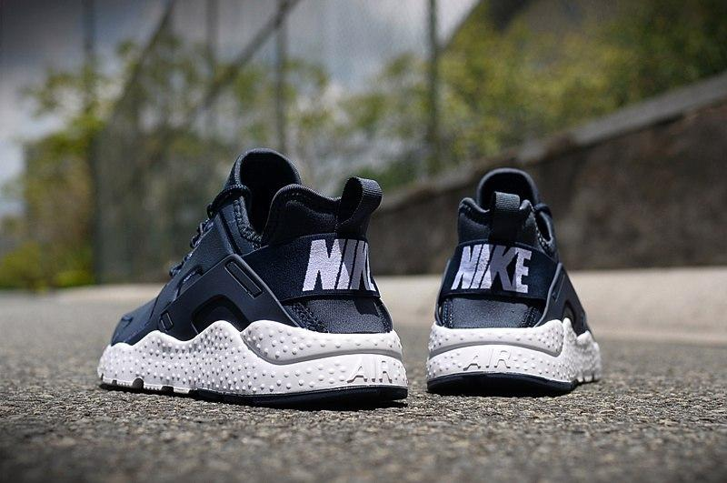 f0bf51a7 ... Nike Air Huarache Ultra Leather Navy White | кроссовки мужские синие  кожаные, фото 4