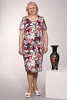 Празничное платьес цветами из жаккарда размер:50,52,54