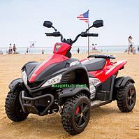 Квадроцикл M 3221E-3, детский, колеса EVA, черно-красный