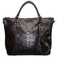 Женская сумка из кожи питона (PT 816 Black)