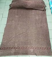 Махровая простынь Хлопок 200*220 (TM Zeron) коричневый, Турция