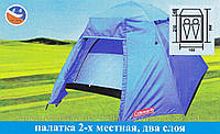 Палатка туристическая двухслойная, Палатка 2-местная Coleman 1013