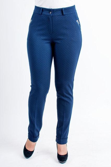 Модные классические женские брюки синего цвета