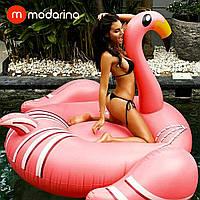 Modarina Надувний матрац Стильний Фламінго 200 см, фото 1
