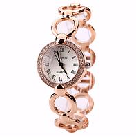 Классические женские часы с металлическим ремешком (браслетом)
