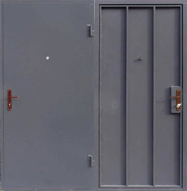 Металлическая входная - техническая  дверь сталь 1.2мм. c Металлическим усиленным засовом