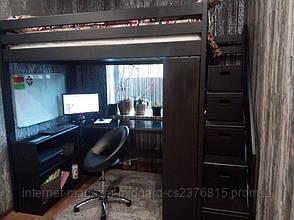 Двухярусная кровать-чердак Джерри + (стол, комод, стеллаж) массив, фото 2