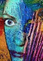 Фотообои Светящиеся Лицо Девушки Абстракция Декор Стен Дизайн Интерьера