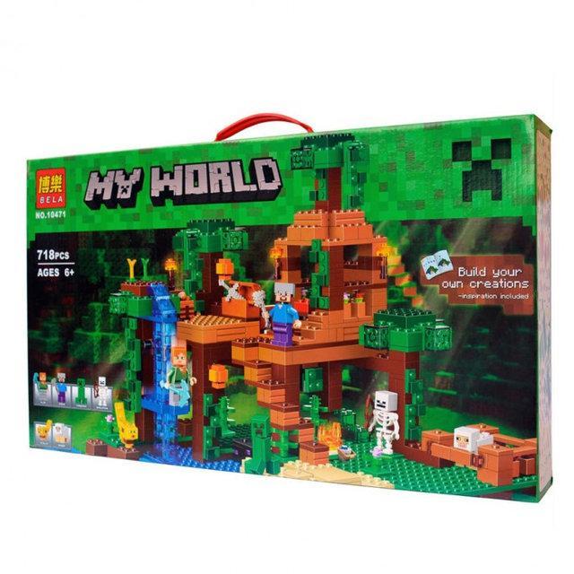 """Конструктор Bela Minecraft """"Домик на дереве в джунглях"""" арт. 10471 (аналог Lego Minecraft 21125)"""