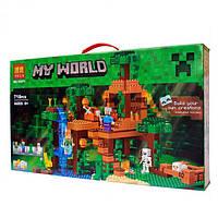 """Конструктор Bela Minecraft """"Домик на дереве в джунглях"""" арт. 10471 (аналог Lego Minecraft 21125), фото 1"""