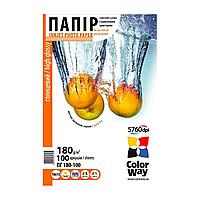 Глянцевая фотобумага colorway 180г/м 10x15 pg180-100 (pg1801004r)