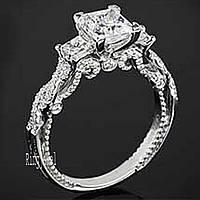 Кольцо 925  цирконы  vvs1 размер 17