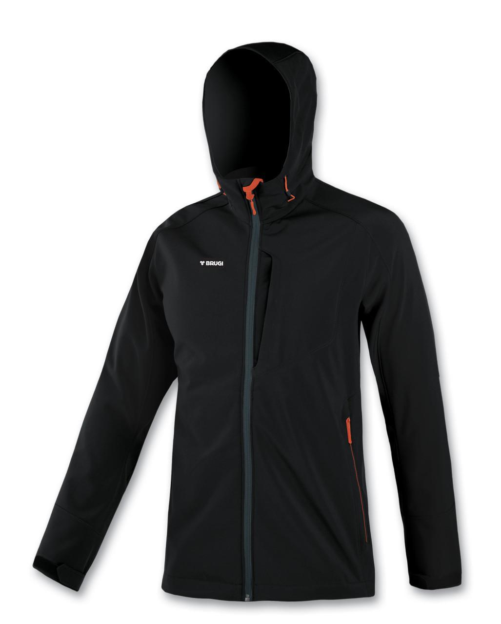 Куртка Outdoor Softshell BRUGI/ Black-Orange