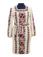 Платье вязаное женское Роза яркая рамочка   Плаття в'язане жіноче Троянда яскрава рамочка