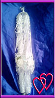 Свечи венчальные Розы 45 см, цвет в ассортименте Белый