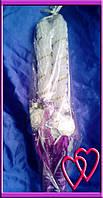 Свечи венчальные Розы 45 см, цвет в ассортименте Фиолетовый