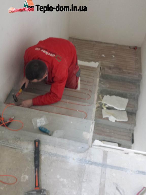 Монтаж кабеля Fenix ADSV 18-1700 вт ( Делаем теплые полы на лестнице )