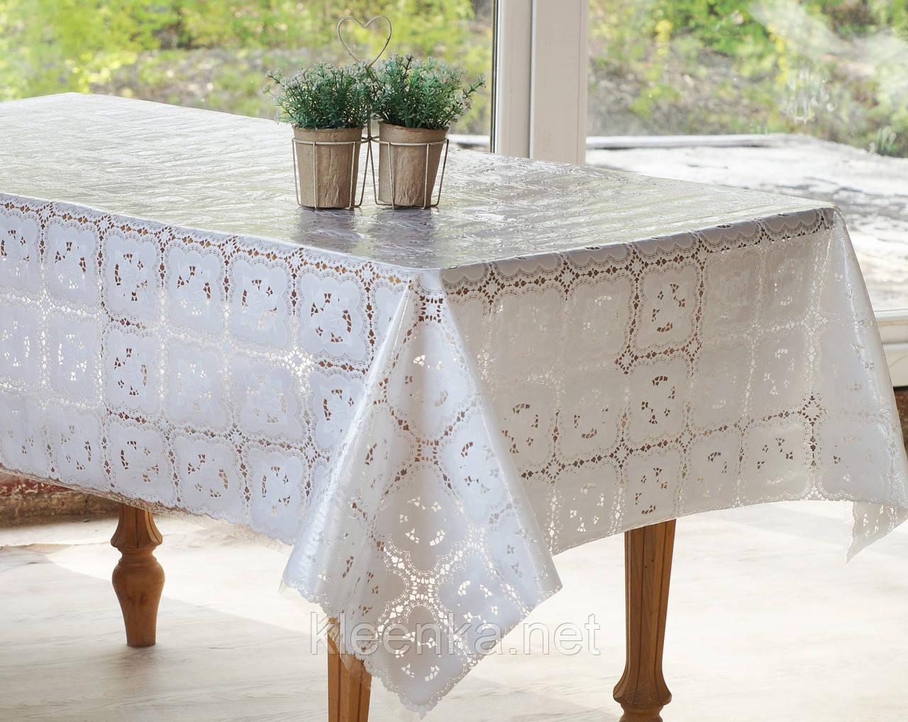 Скатерть клеенчатая на  стол Ажур Розы