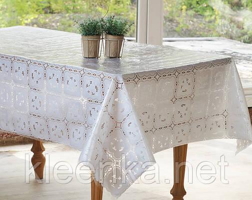 Скатерть клеенчатая на  стол Ажур Розы, фото 2