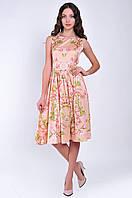Женское платье цветочный принт длинна миди