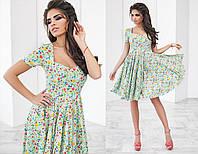 Женское летнее платье в мелкий цветочный рисунок