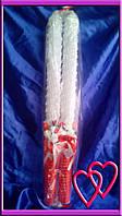 Свечи венчальные Розы 55 см, цвет в ассортименте  Красный