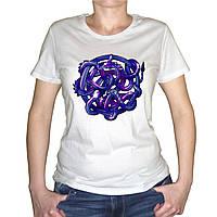 """Женская футболка """"Клубок змей"""""""