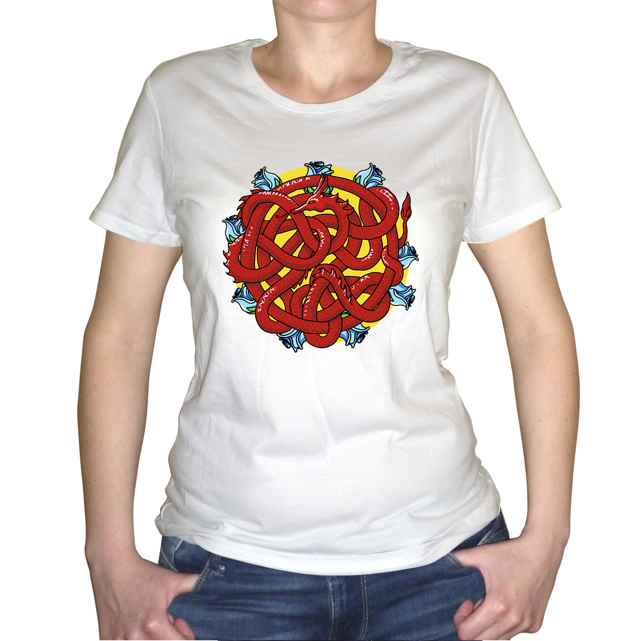 """Женская футболка """"Клубок змей 2"""""""