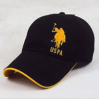 Бейсболка USPA Polo. Черная с желтым.