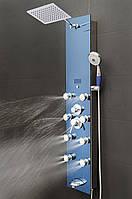 Гидромассажная панель Golston G-V878-392-H (зеркально-голубая), 1300х300х70 мм