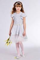 Красивое детское платье на выпускной с декорированым поясом