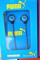 Вакуумные наушники Puma PM A08s  синий неон, фото 1