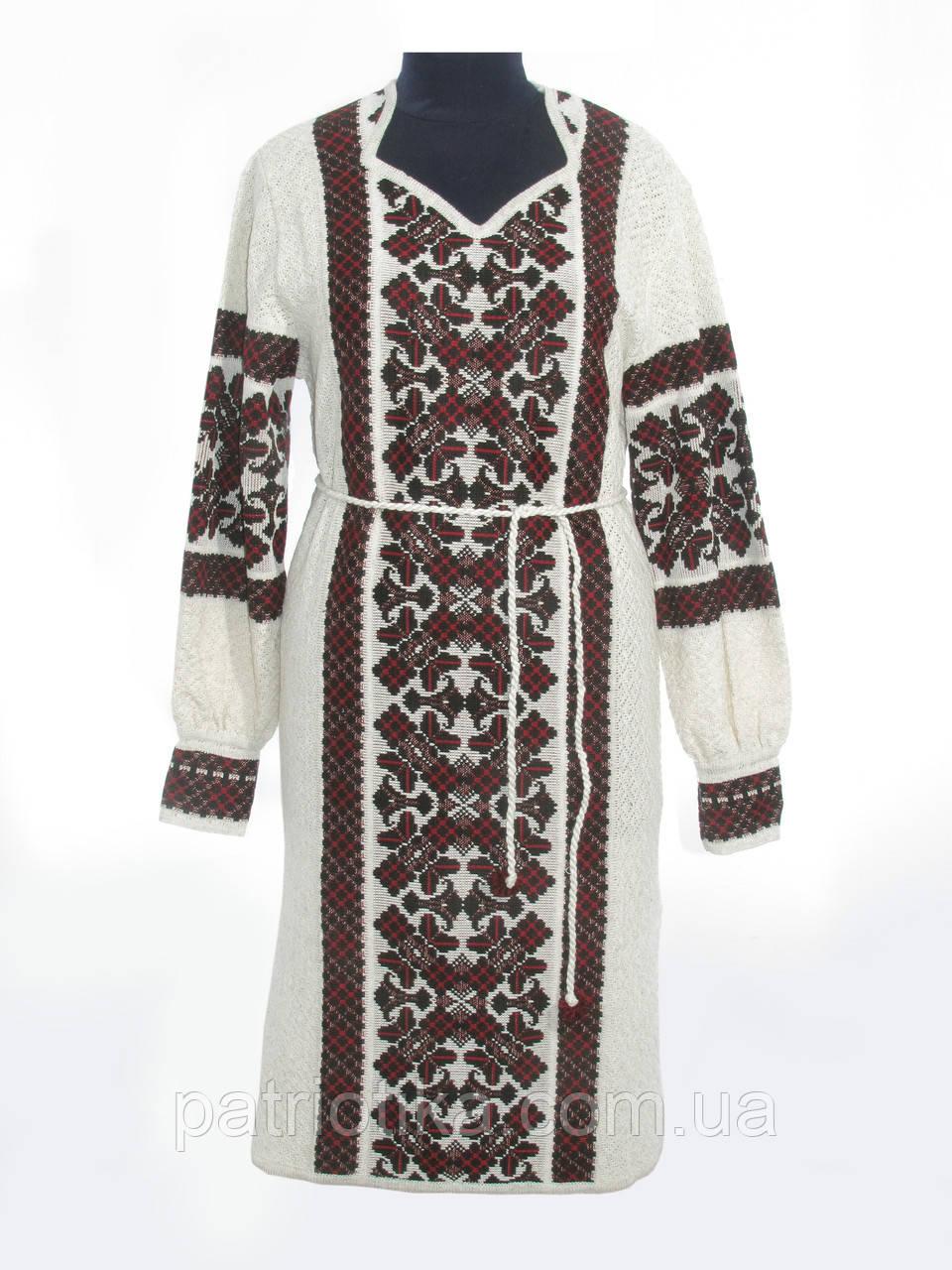Платье вязаное Крестики черно-красные   Плаття в'язане Хрестики чорно-червоні