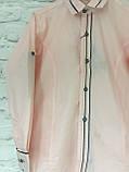 Рубашка нежно-персиковая для мальчиков на рост 128-152, фото 2